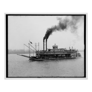 The America, Mississippi river boat, Miss. 1900-19 Posters