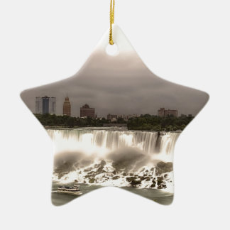 The American and Veil Falls Ceramic Star Decoration