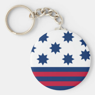 The American Battle of Guilford Courthouse Flag Basic Round Button Key Ring