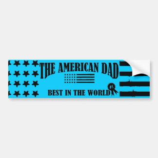 The American Dad-Best In The World Bumper Sticker