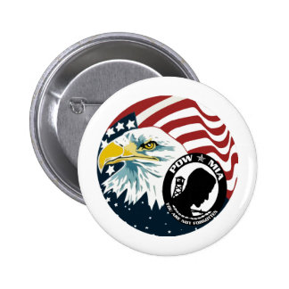 The American Eagle POW-MIA 6 Cm Round Badge