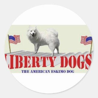 The American Eskimo Dog Round Sticker