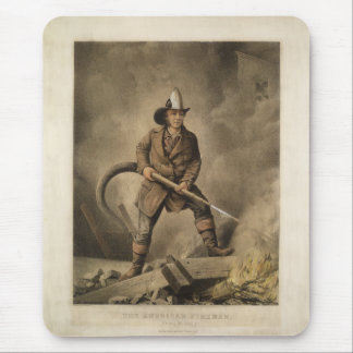 The American Fireman: Facing the Enemy (1858) Mouse Pad