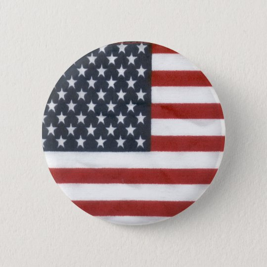 The American Flag 6 Cm Round Badge