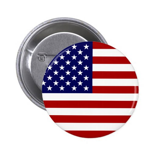 The American Flag Pinback Buttons
