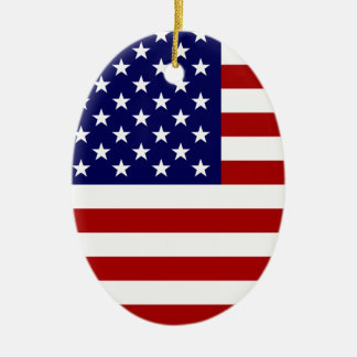 The American Flag Ceramic Oval Decoration