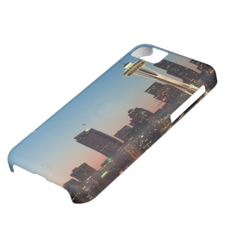 The American flag flies between the rising moon iPhone 5C Case