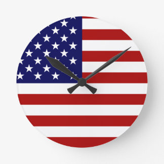 The American Flag Round Clock
