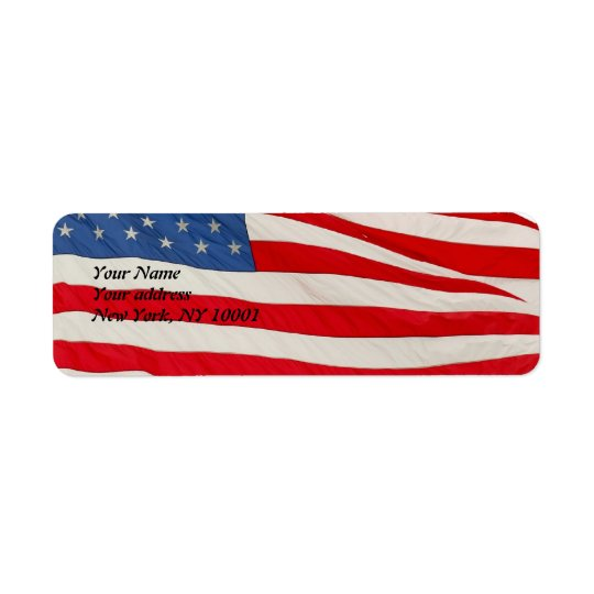 The American Flag, U.S.A Return Address Label