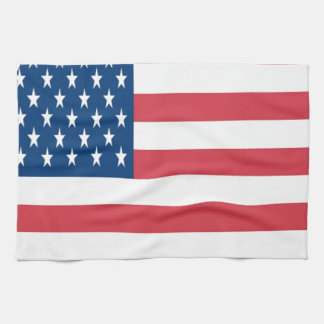 The American Flag With White Stars Tea Towel