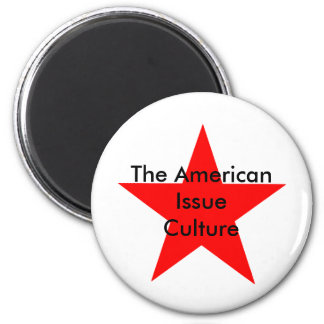 The American Issue Culture Star Red Magnets