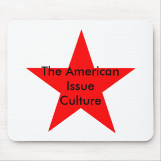 The American Issue Culture Star Red Mouse Pad