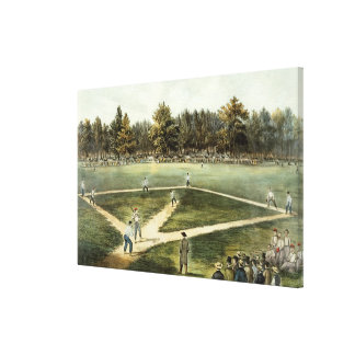 The American National Game of Baseball Canvas Print