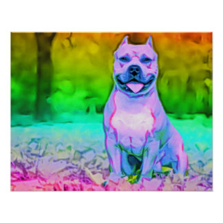 The American Pit Bull Terrier Dog Poster