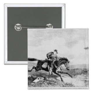 The American Pony Express 15 Cm Square Badge