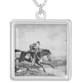 The American Pony Express Silver Plated Necklace