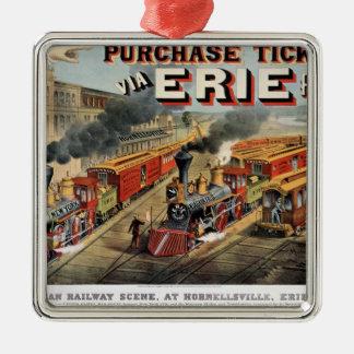 The American Railway Scene at Hornellsville Christmas Ornament