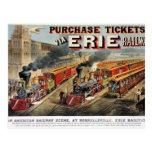 The American Railway Scene at Hornellsville Postcard