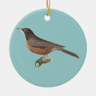 The American Robin	(Merula migratoria) Christmas Ornament