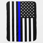The American Thin Blue Line Symbol Baby Blanket