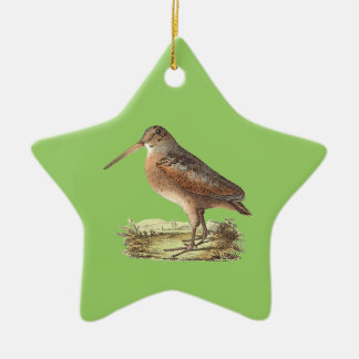 The American Woodcock	(Rusticola minor) Christmas Ornament