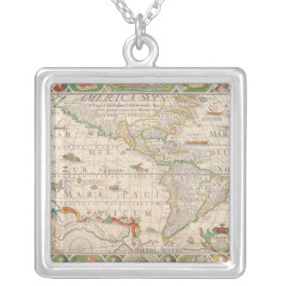 The Americas 2 Silver Plated Necklace