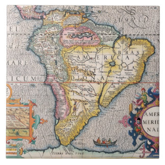 The Americas 5 Large Square Tile