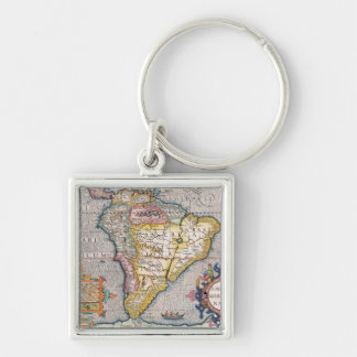 The Americas 5 Silver-Colored Square Key Ring