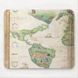 The Americas, detail from world atlas, 1565 Mouse Mat