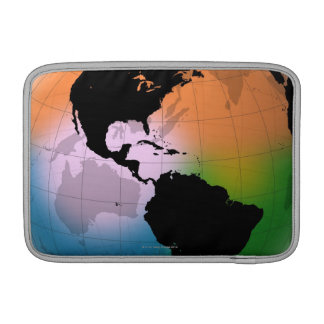 The Americas Ocean Current Map MacBook Air Sleeve