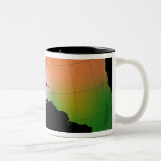 The Americas Ocean Current Map Two-Tone Coffee Mug