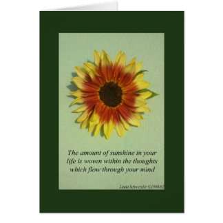 The amount of sunshine-Inspiration Card
