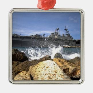 The amphibious assault ship USS Kearsarge Christmas Ornament