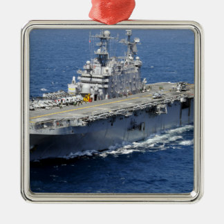 The amphibious assault ship USS Peleliu Christmas Ornament