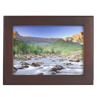 The Amphitheatre And Tugela River In Drakensberg Keepsake Box
