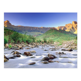 The Amphitheatre And Tugela River In Drakensberg Postcard