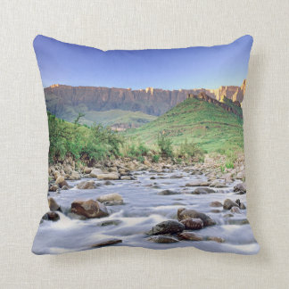The Amphitheatre And Tugela River In Drakensberg Throw Pillow