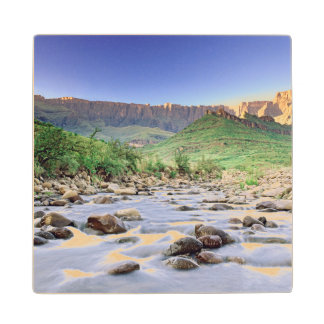 The Amphitheatre And Tugela River In Drakensberg Wood Coaster