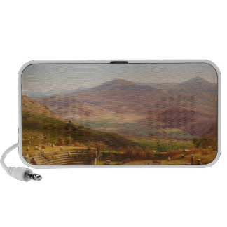 The Amphitheatre of Tusculum and Albano Mountains iPod Speakers