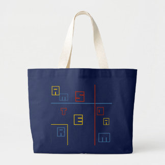 The Amsterdam geometry Large Tote Bag