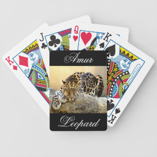 The Amur Leopard Bicycle Playing Cards