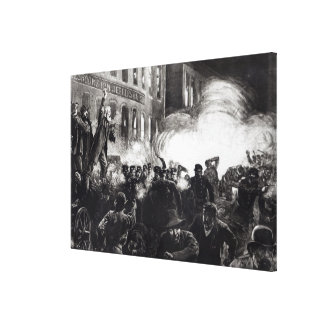 The Anarchist Riot in Chicago Canvas Print