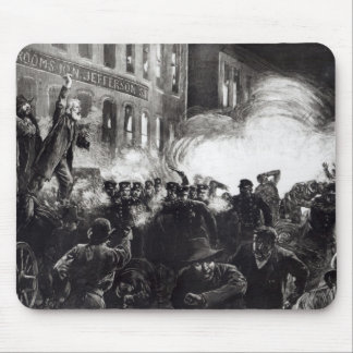 The Anarchist Riot in Chicago Mouse Mat