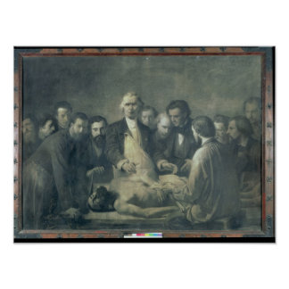 The Anatomy Lesson of Doctor Velpeau Poster