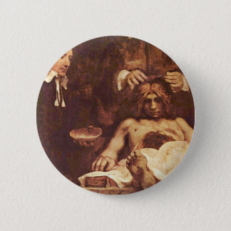 The Anatomy Lesson Of Dr. Joan Deyman. By Rembrand 6 Cm Round Badge