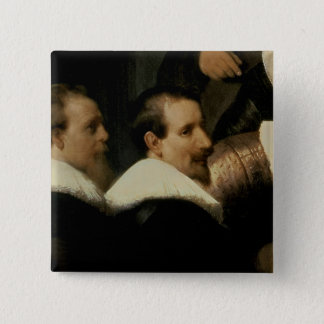 The Anatomy Lesson of Dr. Nicolaes Tulp, 1632 15 Cm Square Badge