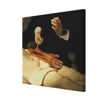 The Anatomy Lesson of Dr. Nicolaes Tulp, 1632 Canvas Print