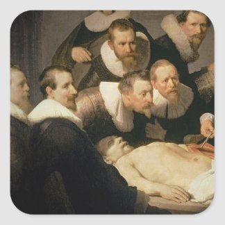 The Anatomy Lesson of Dr. Nicolaes Tulp, 1632 Square Sticker