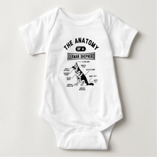The Anatomy Of A German Shepherd Baby Bodysuit