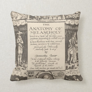The Anatomy of Melancholy Cushion